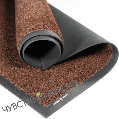 Придверный коврик Профи Стар коричневый