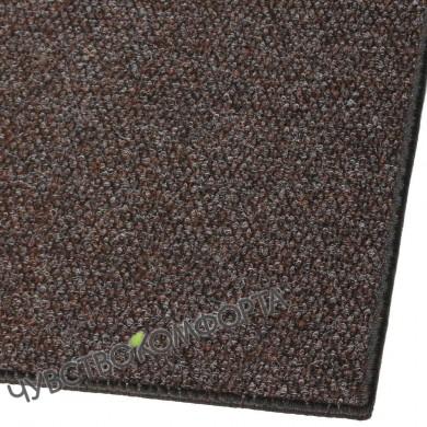 Придверный коврик Супер Стар оверлок коричневый 96*55см.