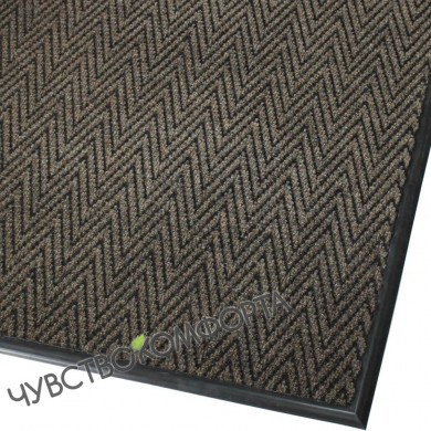 Придверный коврик Зип Стар коричневый 100*140см с окантовкой.