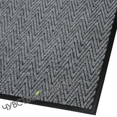 Придверный коврик Зип Стар серый с окантовкой ПО АКЦИИ.