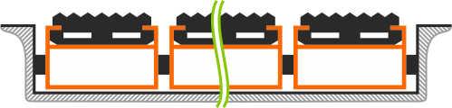 Схема установки грязезащитной решетки в приямок